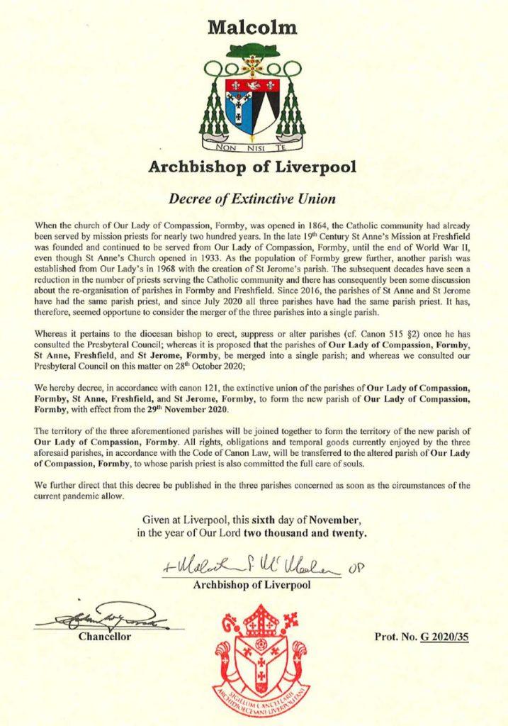 Decree of Extinctive Union
